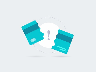 Payment Declined Icon pay plastic card error bank card bank payment minimal ui design flat icon