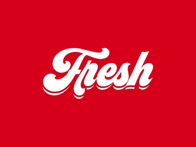 Fresh, So Fresh Logo lettering calligraphy logo red fresh calligraphy icon design sign flat minimal symbol logo
