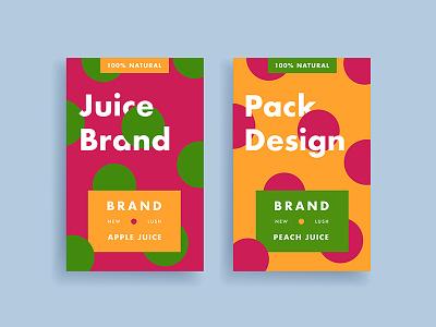 Juice Package V1 color lush flatdesign packaging minimal flat juice package design package