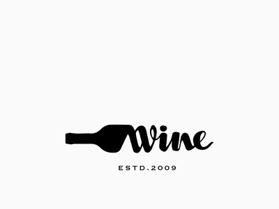 Wine Logo minimal design branding symbol sign wine bottle winery wine flat icon logo