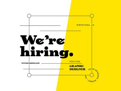 Hiring Ad Concept advertising banner design banner idea concept hiring hire me hire illustration design flat minimal