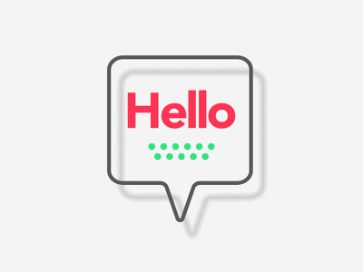 Hello Speech Bubble logo icon design symbol icon speech bubble chat message illustration design hello dribbble minimal flat speech hi hello