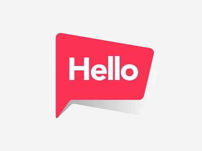Hello Bubble vector design symbol flat talk speech font bubble hi hello