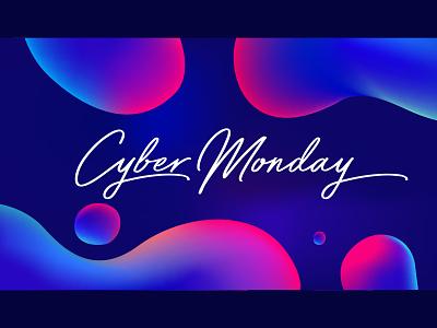 Cyber Monday Sale Illustration campaign ad campaign promo advertisement ad banner design poster banner black friday sale cyber monday vector design illustration