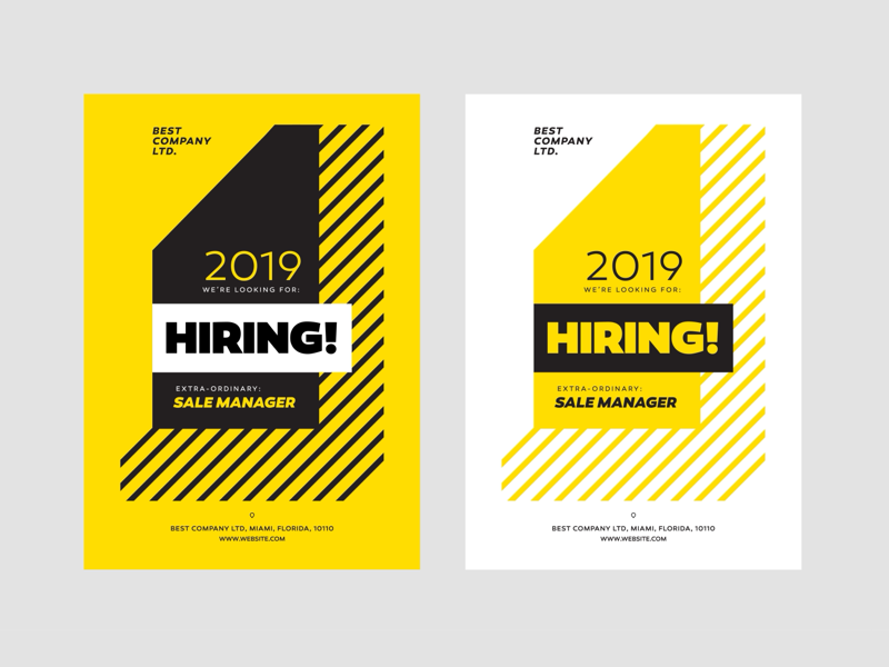 Hiring Ad Campaig geometric design advertisements poster banner hire hiring campaign promo ad