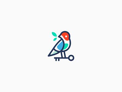Real Estate Logo icon flat vector symbol minimal concept honest key bird idea design logo real estate logo real estate