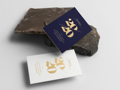 2020 New Year Eve Invitation golden foil gold typography concept illustration minimal design invitation card 2020 event greeting xmas card party event new year party xmas christmas new year invitation