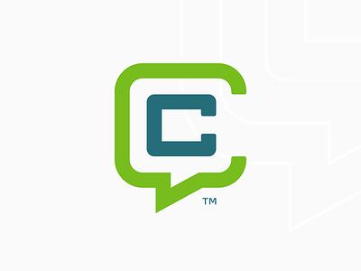 Credible Customers Logo thicklines lockup consultant marketing quote icon logo monogram cc credible customers