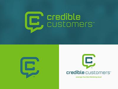 Credible Customers Logo Group jon pope monogram thicklines lockup brand guide logo cc credible customers