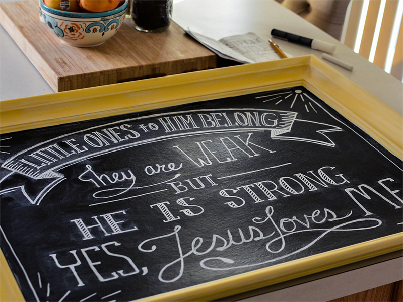 Little Ones - Chalk Lettering
