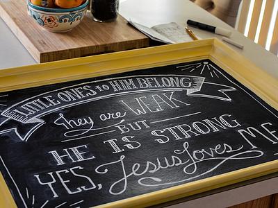 Little Ones - Chalk Lettering logolounge jon pope little one hand drawn lettering chalk art hand lettering