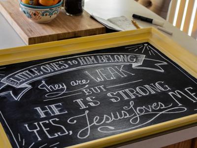 Little Ones - Chalk Lettering