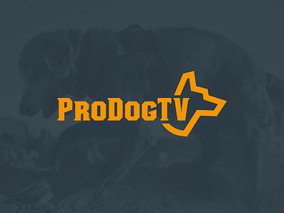 ProDogTV Logo dog logo working dogs professional dogs logo design tv show rescue dog police dog logolounge prodogtv jon pope