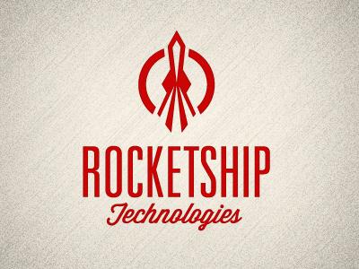 Rocket Tech Logo logo rocket red