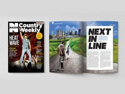 Magazine Background Design