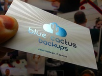 Blue Cactus business card