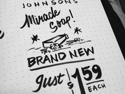 Miracle Soap showcards lettering practice miracles soap brush pen