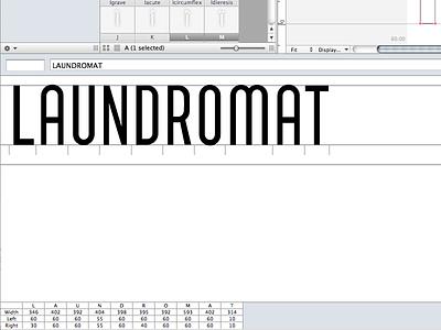 Laundromat in progress font fonts type letters progress laundromat design
