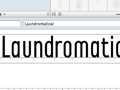 Laundromat Continued type design typefaces laundromat progress development letters fonts