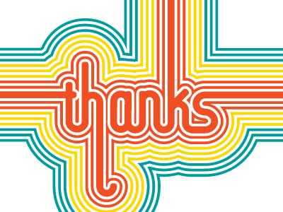 Retro Thanks stationery lettering thanks retro vibe