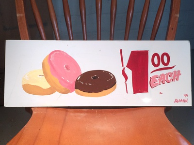 Doughnuts 2 sign painting practice lettering doughnuts signs enamels