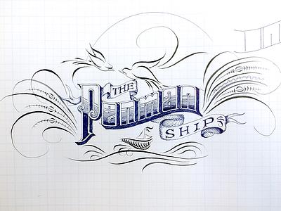Penmanship engrossing lettering flourishing penmanship practice