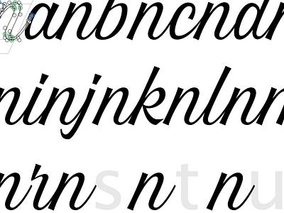 Font in progress: Overseas fonts typeface design work in progress casual script