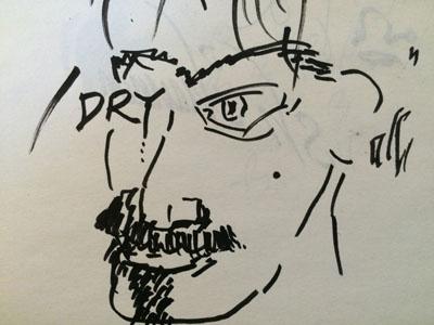 Dry Eye lettering sketch brushpen