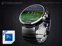 Android Wear - Wearable Mockup (Free PSD)