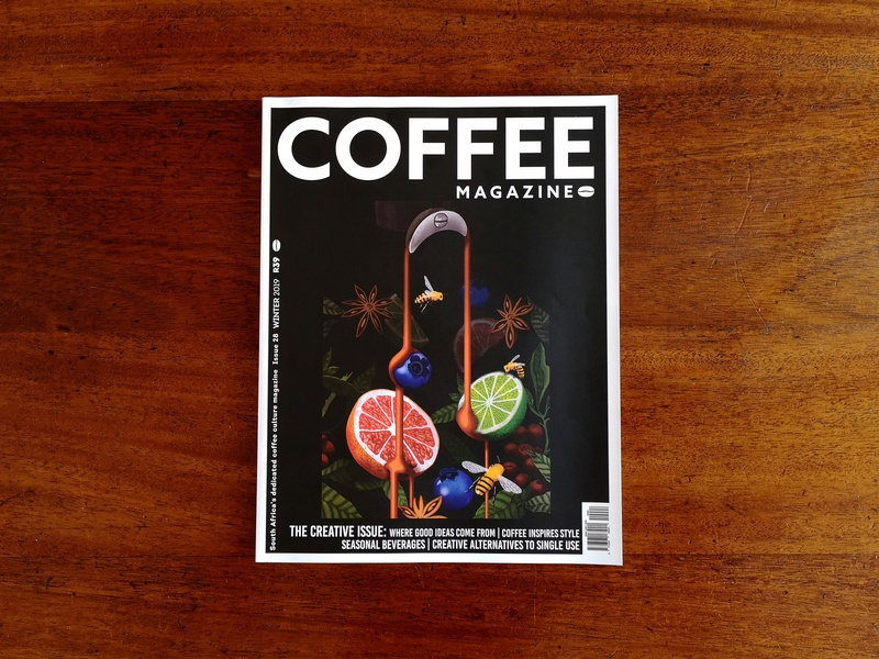 The Coffee Mag Cover #2 south africa magazine cover flavors coffee magazine digital design photoshop design editorial illustration surrealism editorial art editorial abstract illustration