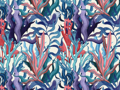 Aquatic Textile watercolour fashion illustration fashion design pattern textile design digital art illustration