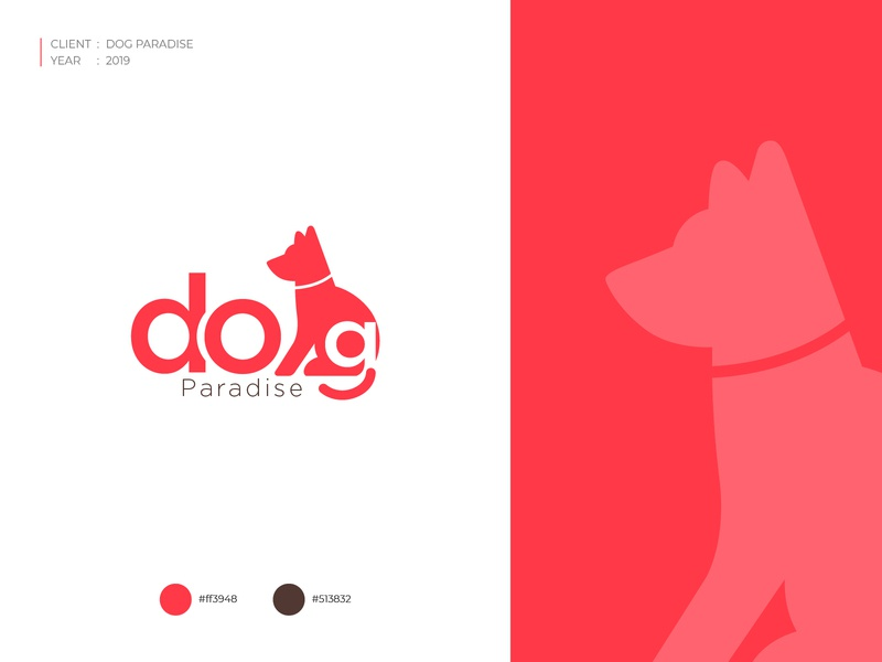 Dog Paradise_Logo ux art minimal icon vector ui illustration design branding logo