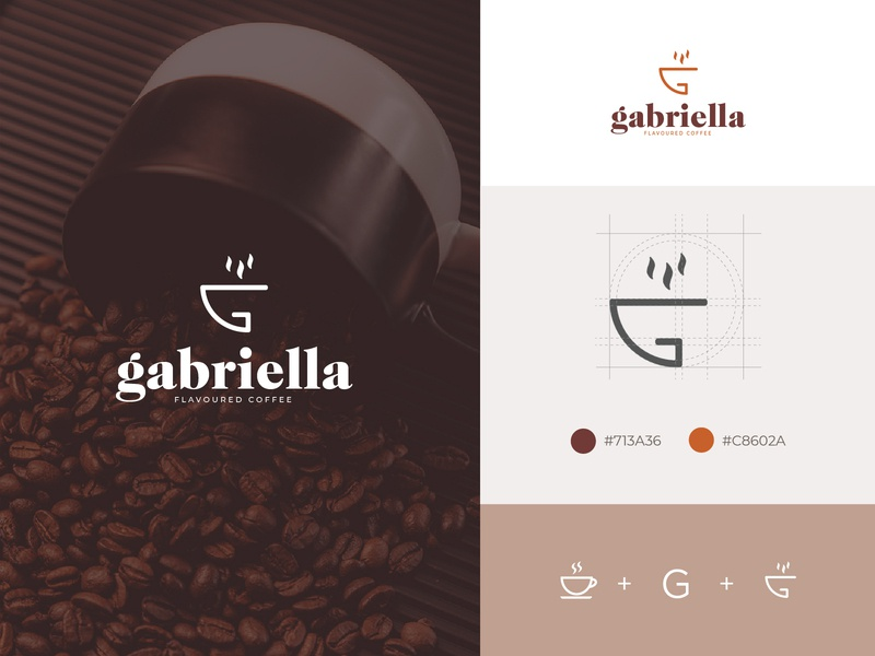 Gabriella Flavoured Coffee_Logo Concept illustrator web typography ui illustration icon design minimal logo branding