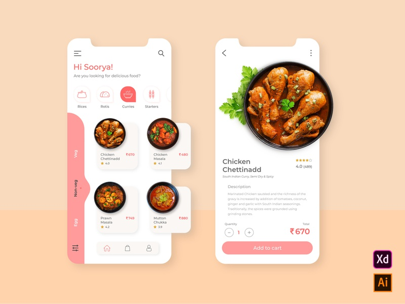 Food App userexperience userinterface mobieappdesign mobile app userinterfacedesign foodapp uxdesign uidesign uiux ux ui