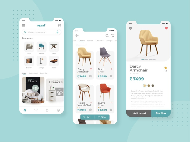 Furniture App branding logo google apple designtrends trending trend mobile app design mobile app app design dashboard ui dashboad userexperience userinterface uxdesign uidesign ui  ux uiux ux ui