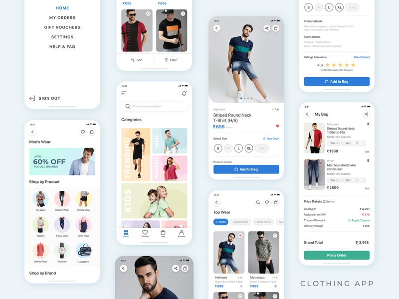 Clothing App mobile app design mobile app clothing store ui design app app design uiux shop ecommerce design uidesign ui new trend fashion app fashion shopping app shopping ecommerce app ecommerce clothing clothing app