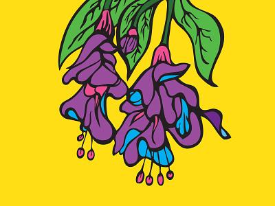 Purple Floral Sketch illustrations illustration drawing color flowers floral