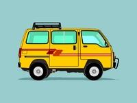 Suzuki Carry '86. Minibus. Caravan