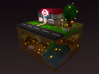 Pokecenter + Cave Voxel