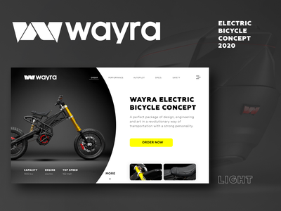 Light theme of bicycle concept ui figma concept design concept branding bicycle adobe photoshop