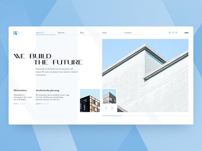 Minimalist architecture concept build minimalism minimalist architecture design web concept design concept ui figma