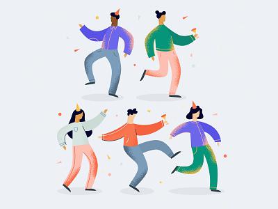 Let's Party vector design illustration