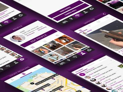 Vapetilly App ux ui mobile app user interaction android ios social media vape