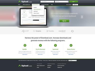 Upload.com Redesign windows analytics ux ui apps dashboard software website