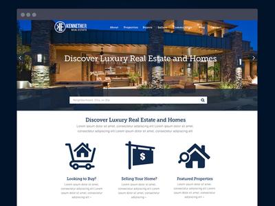 Kenneth Er Real Estate Website art direction interaction design wordpress web visual ux ui