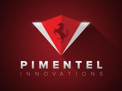 Pimentel Innovations Logo Concept icon ferrari cars red concept art direction logo identity brand