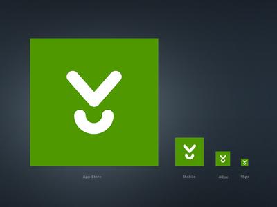 Download.com Favicon Rebrand branding identity favicon icon vector illustrator green download apps software