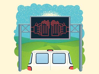 Nashville Scene: TDOT tennessee van interstate sign beer highway spot magazine scene nashville
