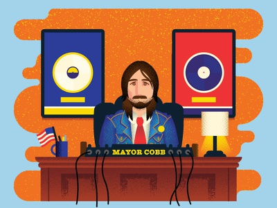 Nashville Scene: Mayor Dave Cobb nashville spot scene music city producer music vinyl record mayor office denim flag