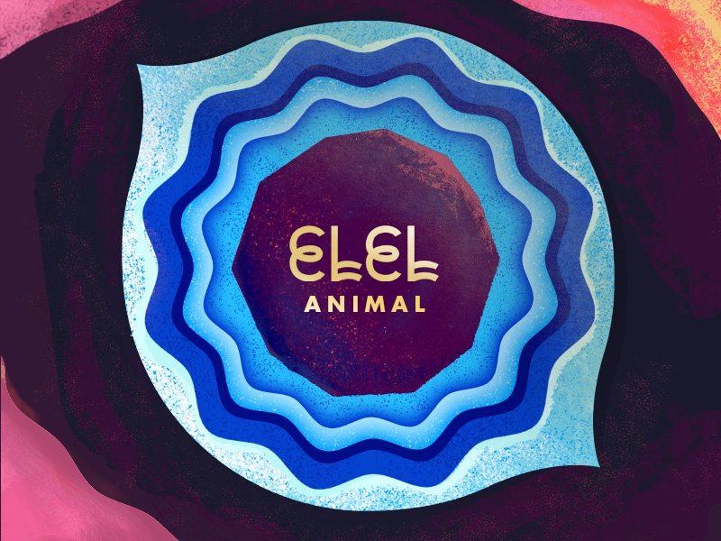 "ELEL: ""Animal"" single music indie pop cover album art elel eye animal"